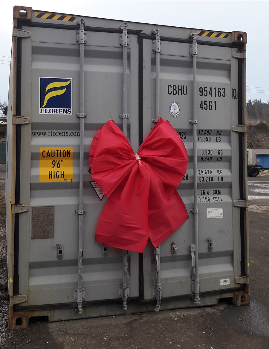 shipping container of the ecokit prefab parts