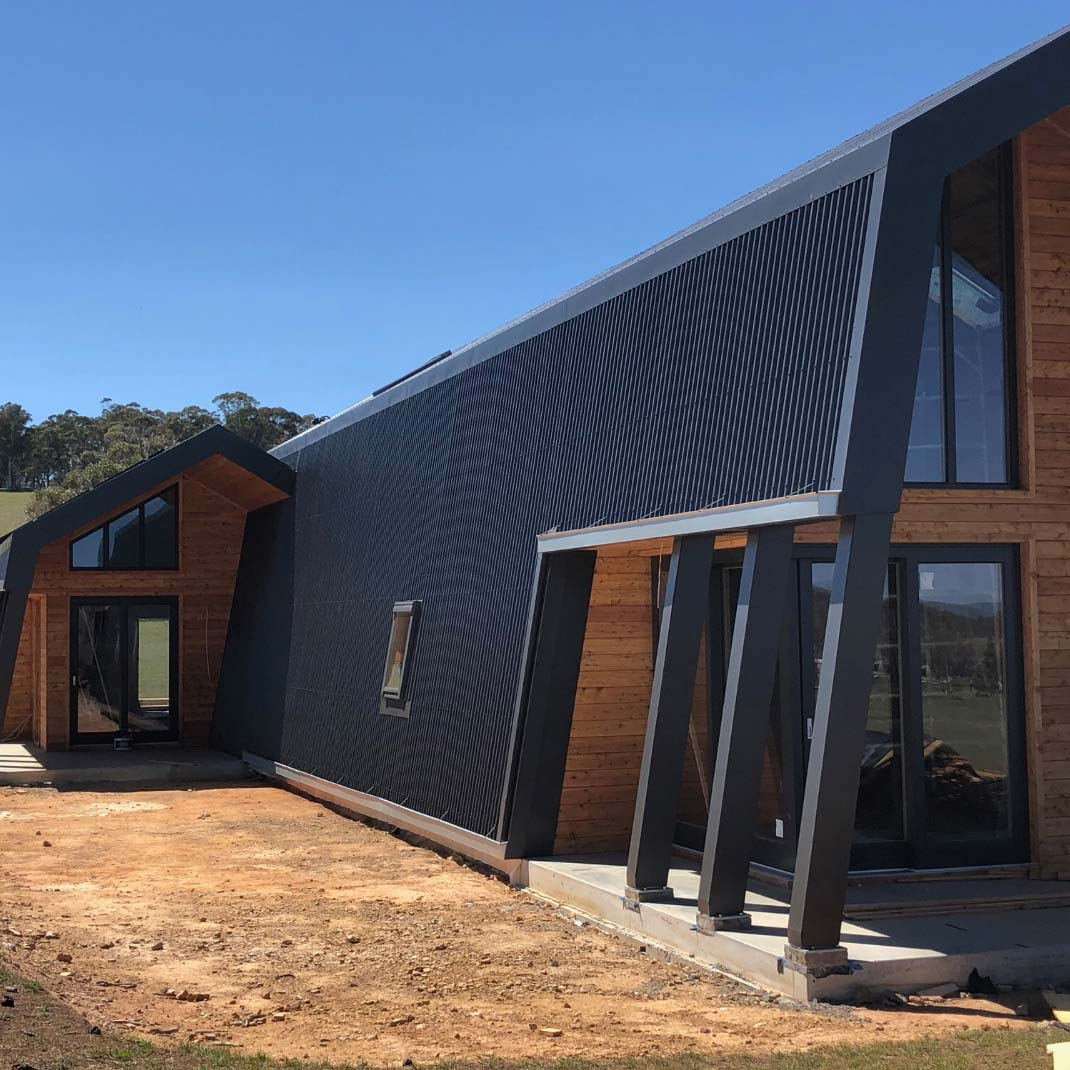 almost completed ecokit home in jindabyne NSW