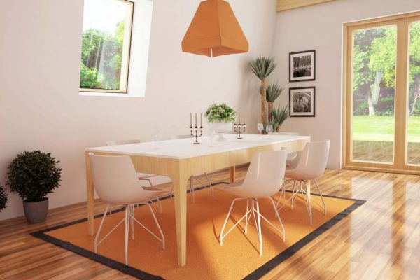dining space design visualization