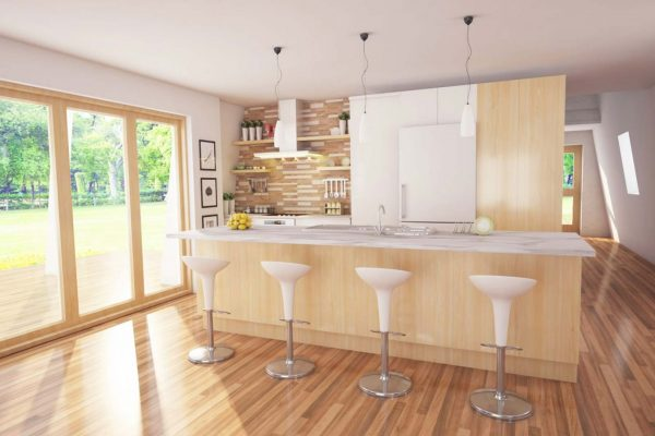 kitchen in ambience sustainable home
