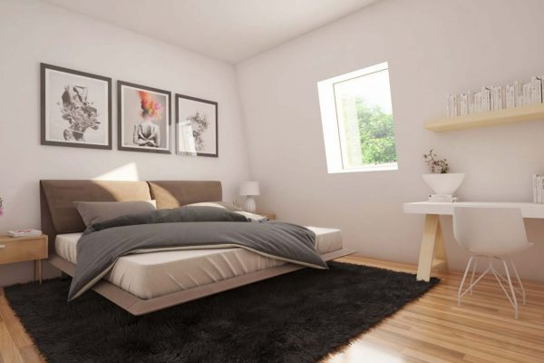 bedroom in ambience show home