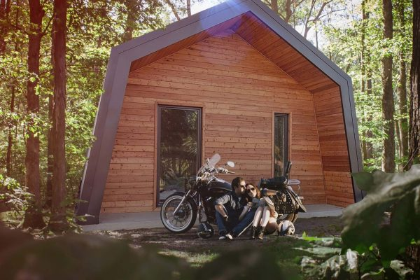 embrace the small home in the forest like a cabin