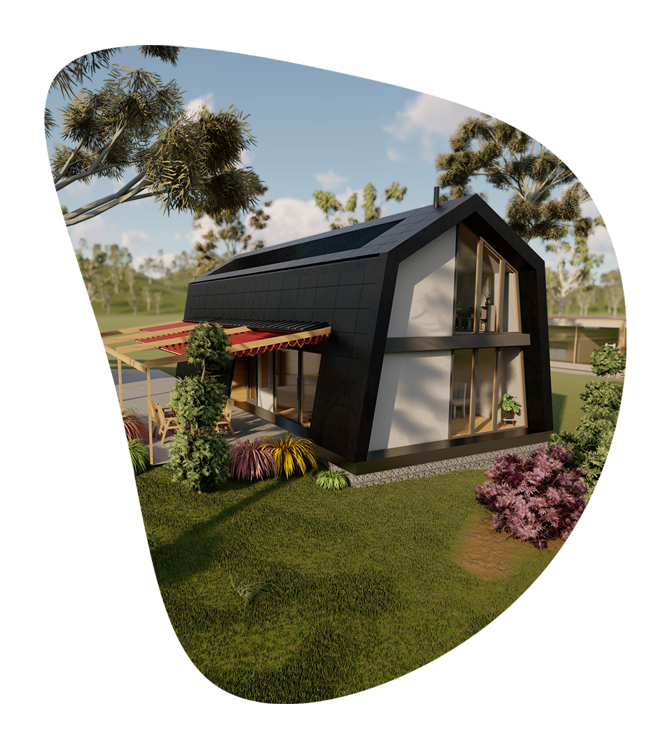 marysville concept design of the sustainable house near Melbourne